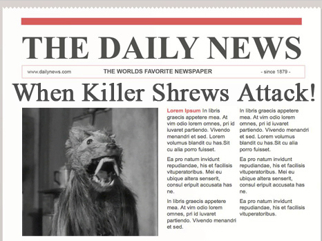 Shrews in the News 2!